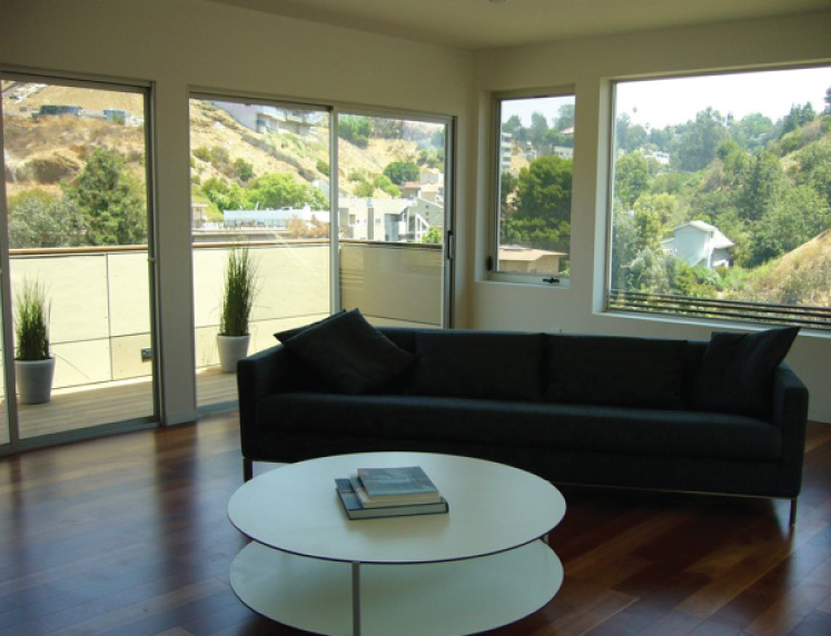 Canyon views can be enjoyed from the roof deck entertainment space.