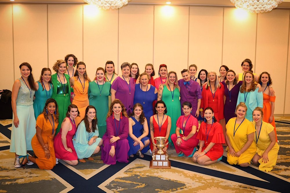 Sweet Adelines International 2019 Harmony Classic Champions in St. Louis (1st Place Overall, 1st Place Division A)