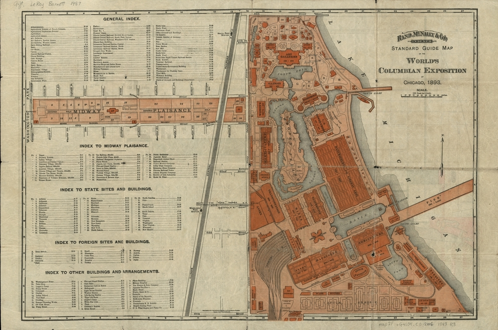 Map of the World's Columbian Exposition
