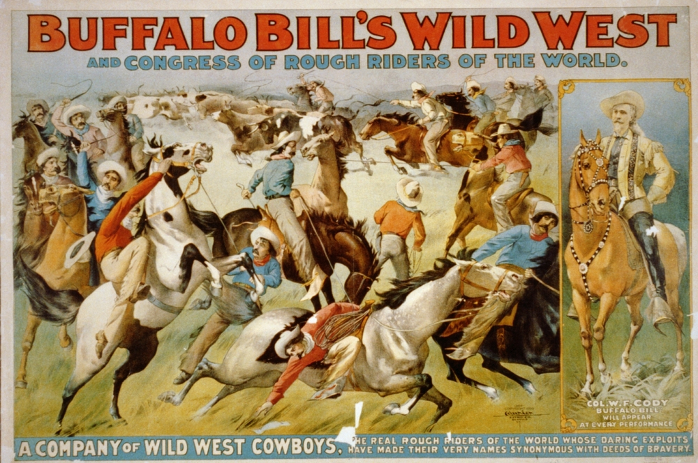 Original poster for Buffalo Bill's Wild West Show