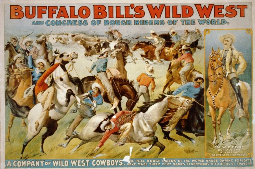 Original poster for Buffalo Bill's Wild West Show