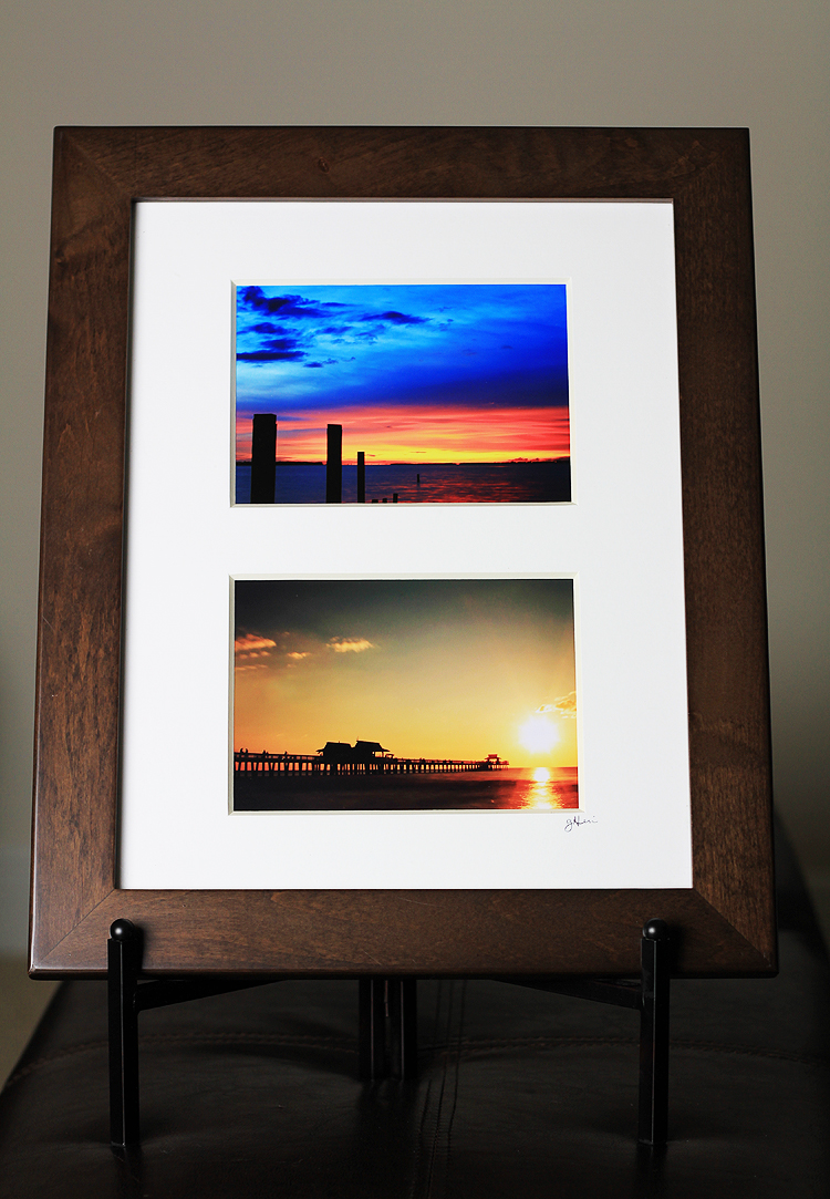 Twin 5x7 prints.  The top was shot on Sanibel Island, Florida.  The bottom was from Naples Pier, Florida.  Both in 2011.  Interested in getting some prints? Give me a shout, gregpheine@gmail.com.