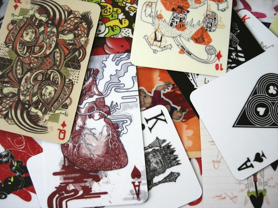 4+Decks+of+Cards+by+Artists+via.jpg