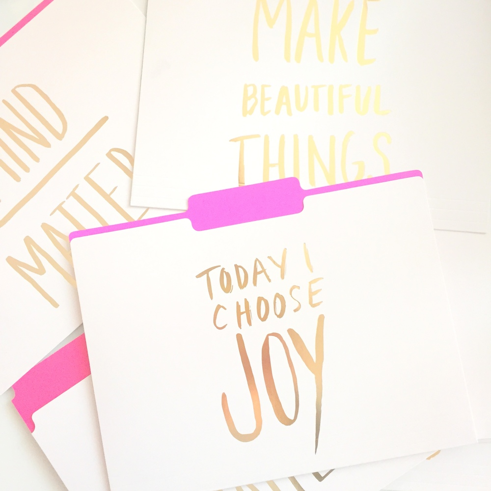 Pretty office File Folders choose-joy make-beautiful-things