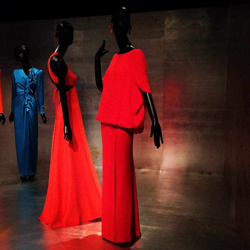 Out of every dress in the exhibit, Virginia and I agreed: this Valentino is the one we most wanted to slip off the mannequin and take home.  Pure relaxed elegance and oh that Valentino Red!  Which dress would you choose?