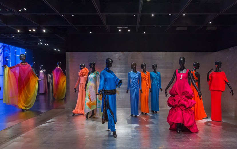 The scope of the exhibit is a marvel: couture gowns sold to only three women in the world, iconic designs from five decades,  what must be millions of dollars of clothing -- all from one woman's closet and all impeccably preserved.