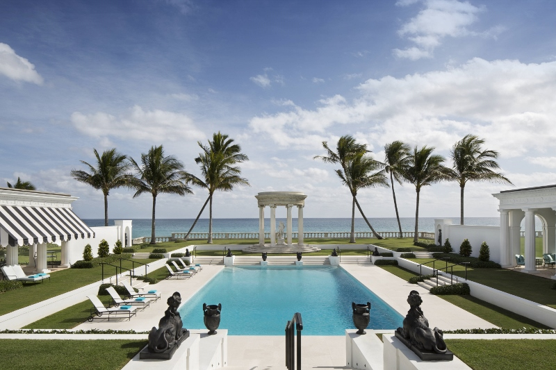 "Classic Drama : Spectacular Atlantic Ocean views from ""Villa Artemis"" a Palm Beach Regency Revival Masterpiece designed by F. Burrall Hoffman."