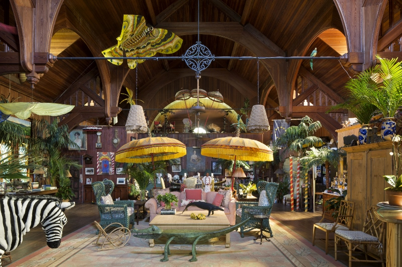 Whimsical & Quirky:   Old Bethesda-By-The-Sea, a former church and current home of interior designer, Palm Beach native and mother of Celerie,  Mimi Kemble McMakin.