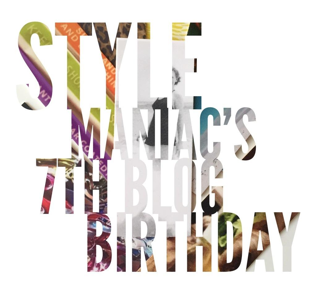 style maniac 7th blog birthday graphic