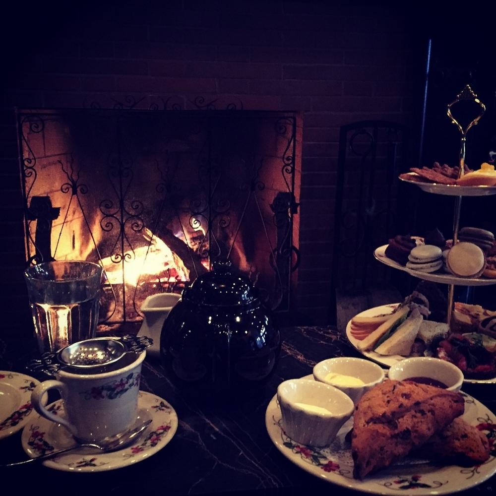 cozy fireside tea at dandelion by doreen creede