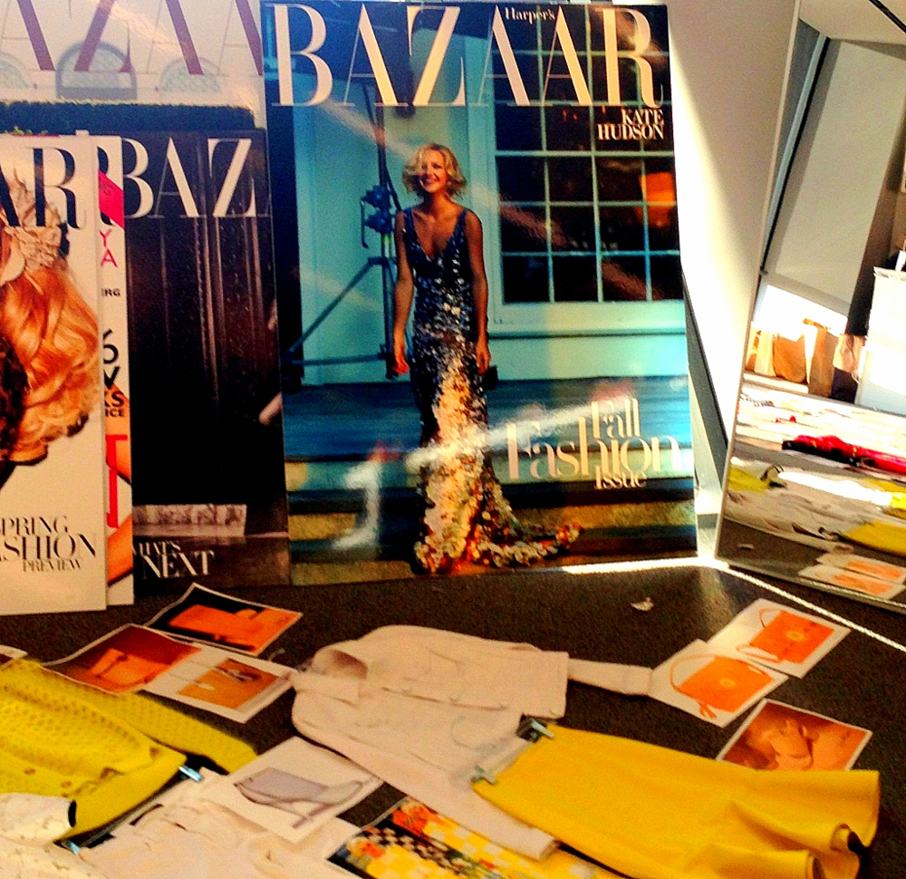 ALWAYS IN STYLE:  While switching templates I went through my photo files and found so many posts and pics that still delight.  IN BANNER: Looks I still love from Carmelita Couture.  HERE: One of our most popular posts ever: my visit to Harper's Bazaar magazine.  HAUTE indeed.  PHOTOS by Doreen Creede.
