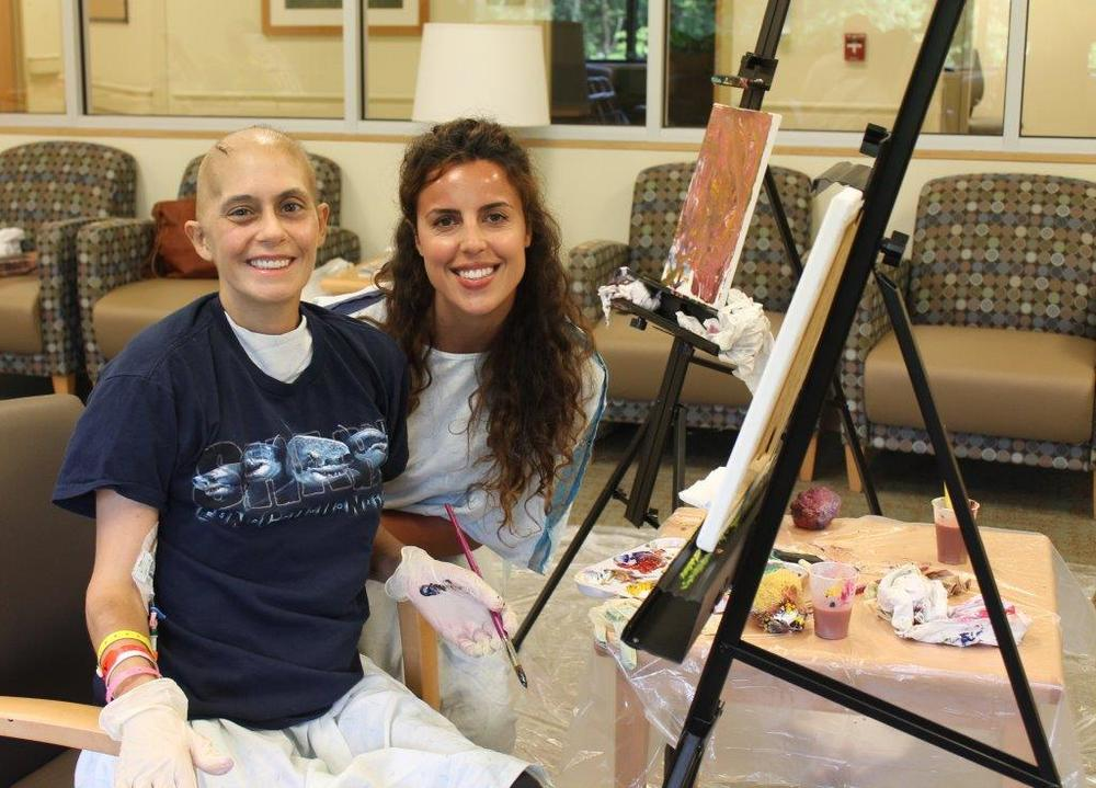 Brianne Applegate works as an adaptvie art instructor helping brain injury and stroke patients heal through painting.