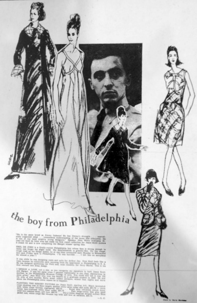 "A feature on ""the boy from Philadelphia"" in Women's Wear Daily."