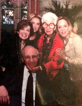 Emil DeJohn with Iris Apfel and friends.