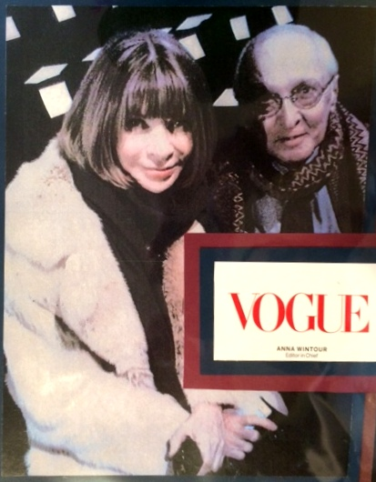 Vogue's Anna Wintour with Emil DeJohn