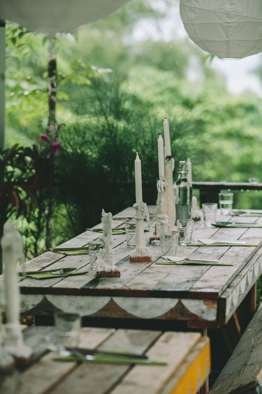 Tables and Candlesticks. Photo Credit: Shantanu Starick