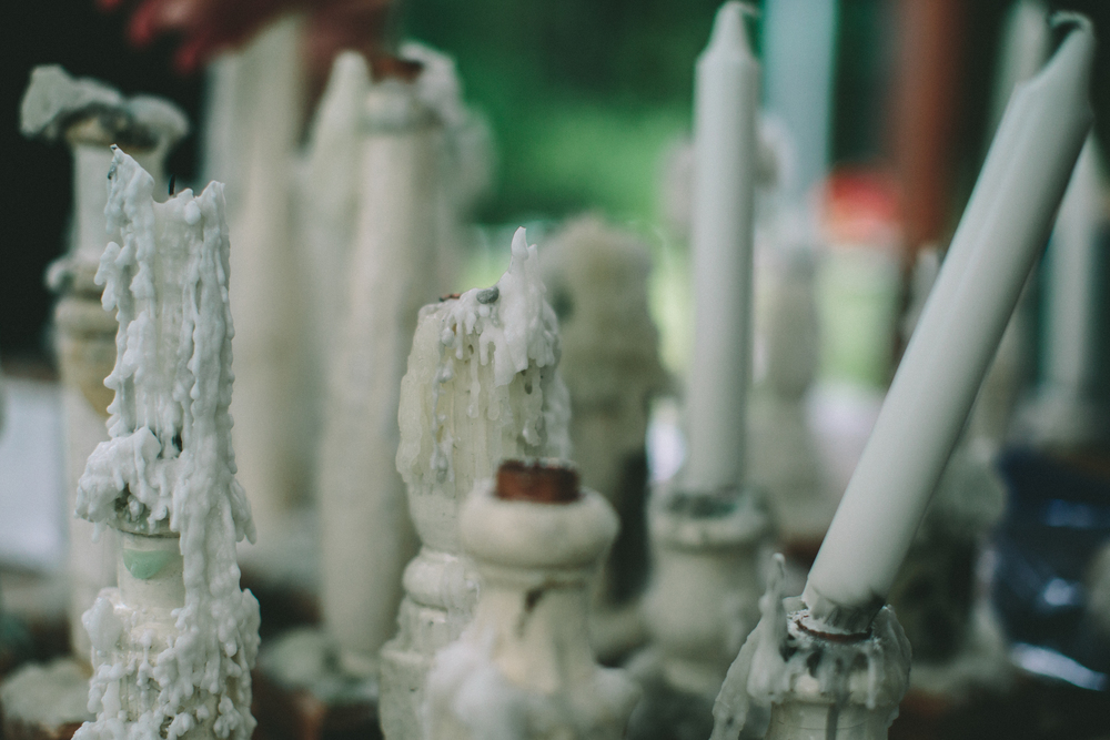 Candlesticks made from old banisters Photo Credit: Shantanu Starick