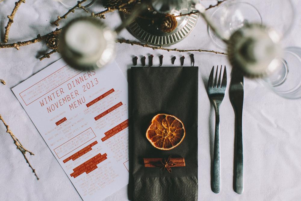 D.I.Y Mulled Wine and menu Design