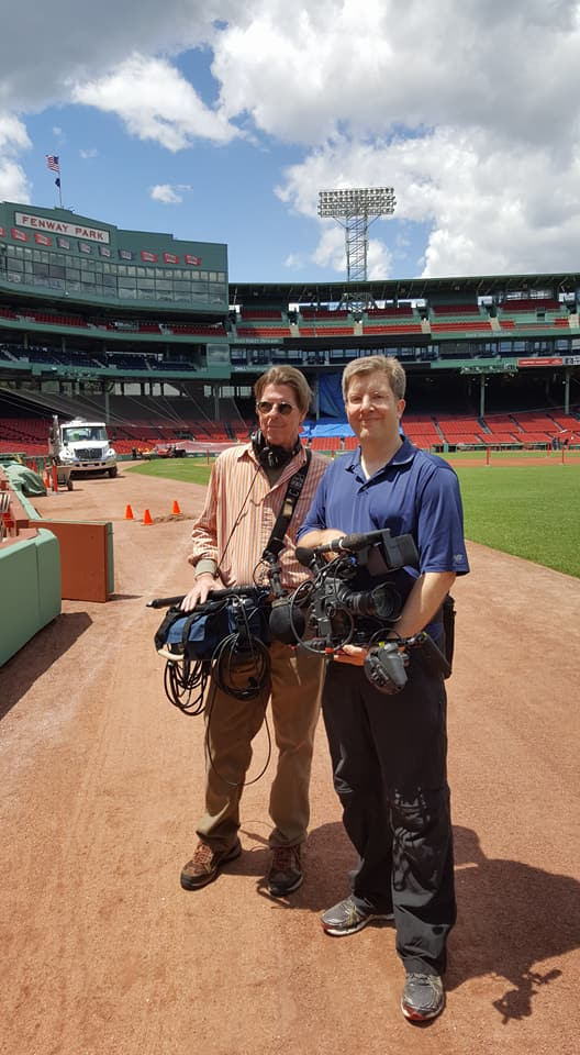 With Frank Coakley at Fenway Park
