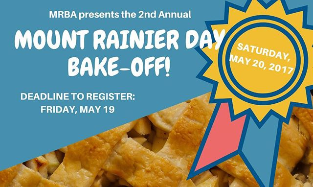 Have you signed up for the 2nd Annual Bake-Off?! Compete for C*A*S*H prizes and delicious fun - full details on the MRBA site via the link in our bio. #bakeoff #mountrainierday #mountrainiermd #mtrainiermd #sweetcompetition #bakedgoods