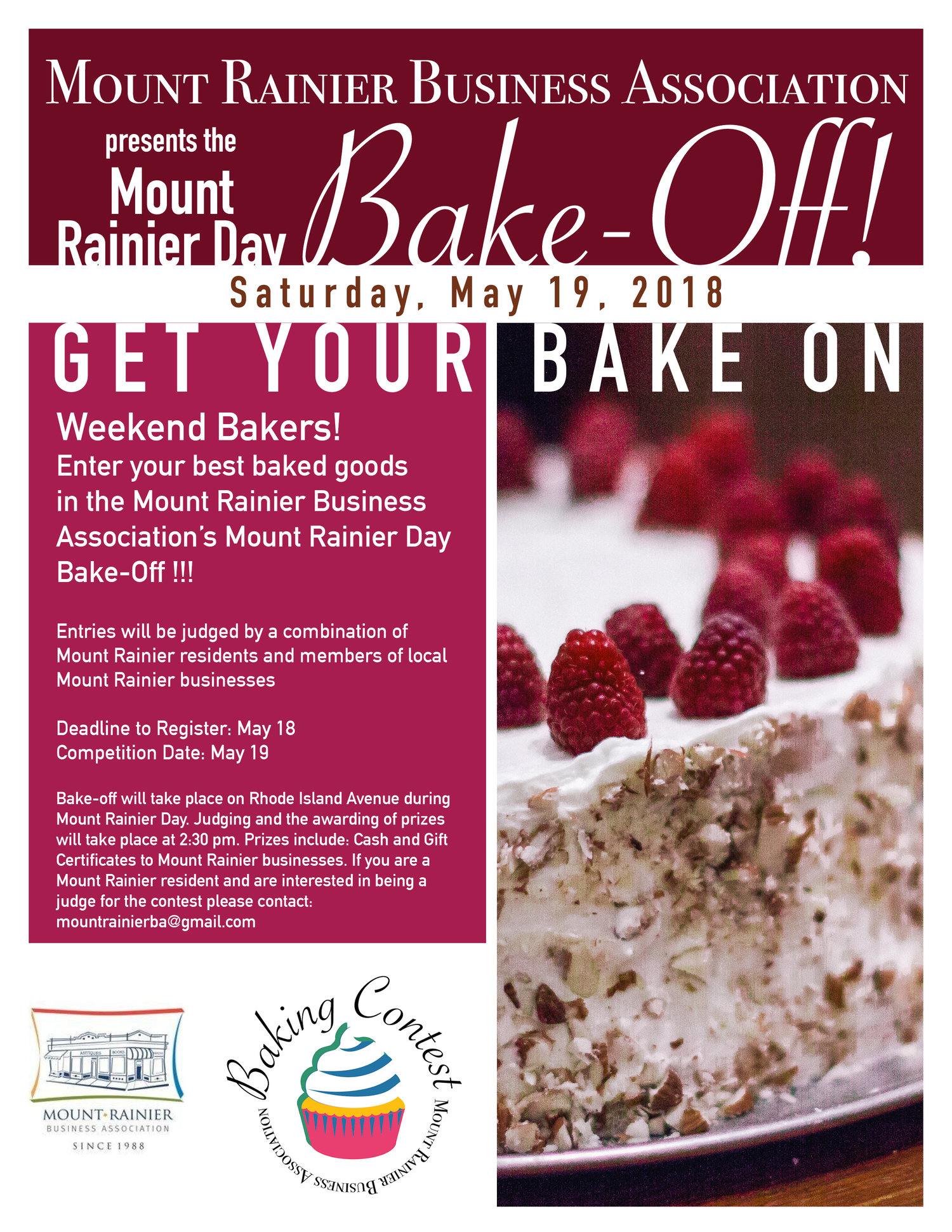 Mt  Rainier Annual Bake-Off Sponsored by the MRBA — Mount Rainier