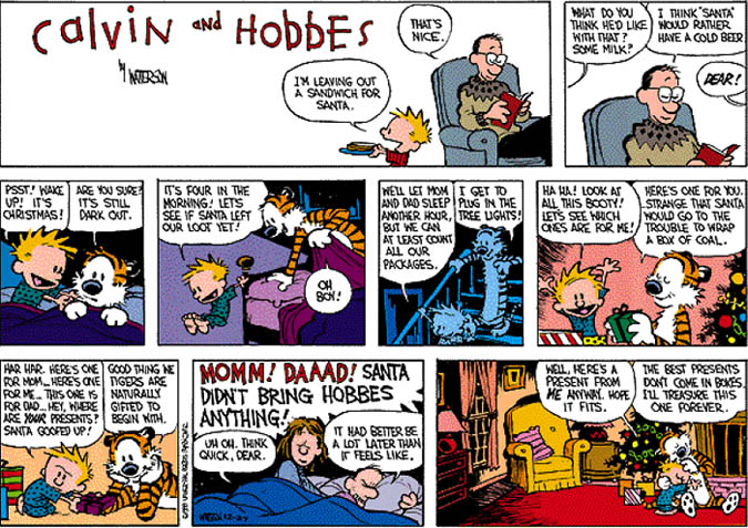 URentGuide wishes you a merry Christmas with the help of Calvin and Hobbes