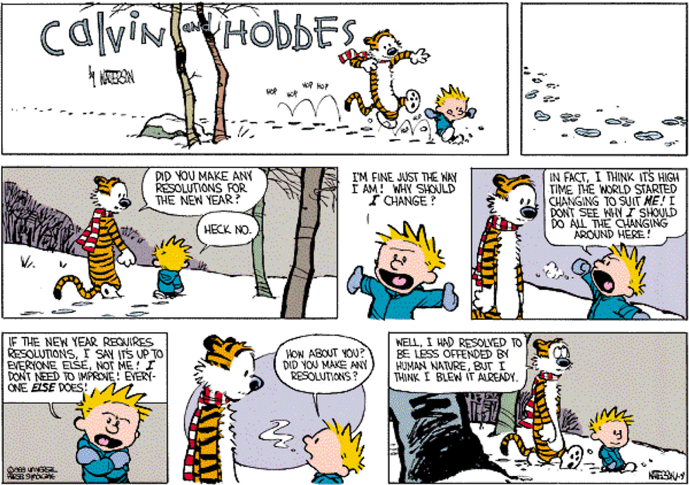 Happy new year from urentguide with help from Calvin and Hobbes
