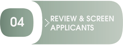 Review Applicants and Screen Tenants: