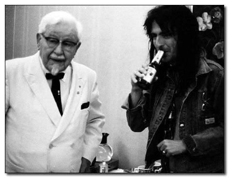 colonel sanders + alice cooper