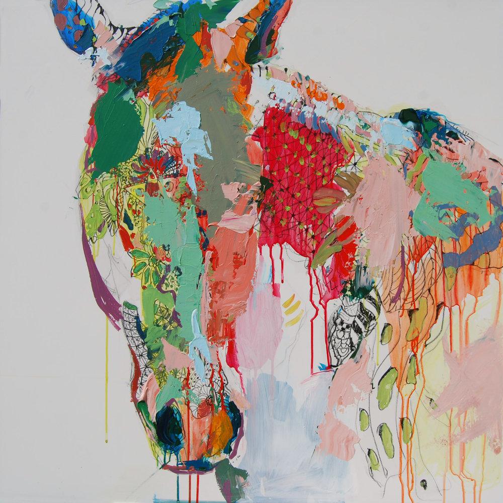 Zen Horse | 30x30 SOLD