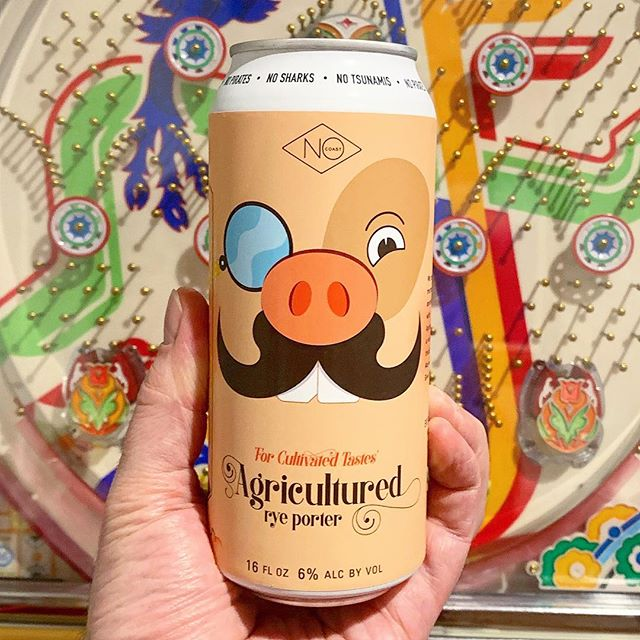 Mighty fine piggy, Wrapped around a handsome beer, Quite cultured indeed. #nocoastbeer  #agricultured #ryeporter #iowabeer