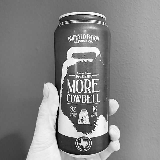 Hefty hoppy brew, Enough to keep bell ringing, Pairs with a party. #buffalobayoubrewing #morecowbell #doubleipa #texasbeer #craftbeer #totalwine #haiku