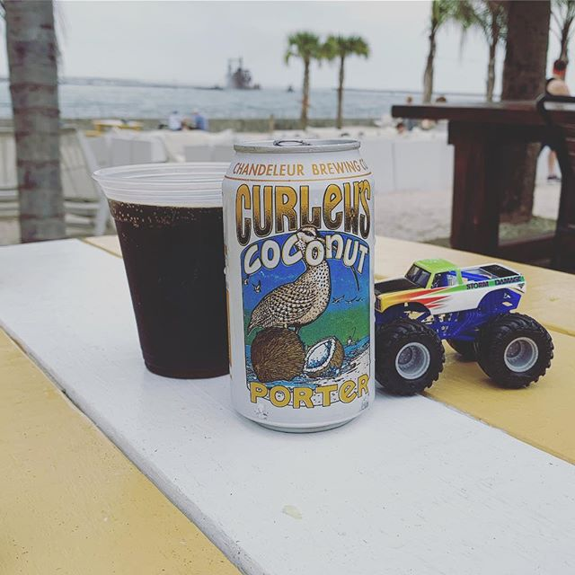 Traveling from home, Coconuts pair with beaches, Trucks go with Bama. #chandeleurbrewing #curlewscoconutporter #mississippibeer #craftbeer #porter #haiku