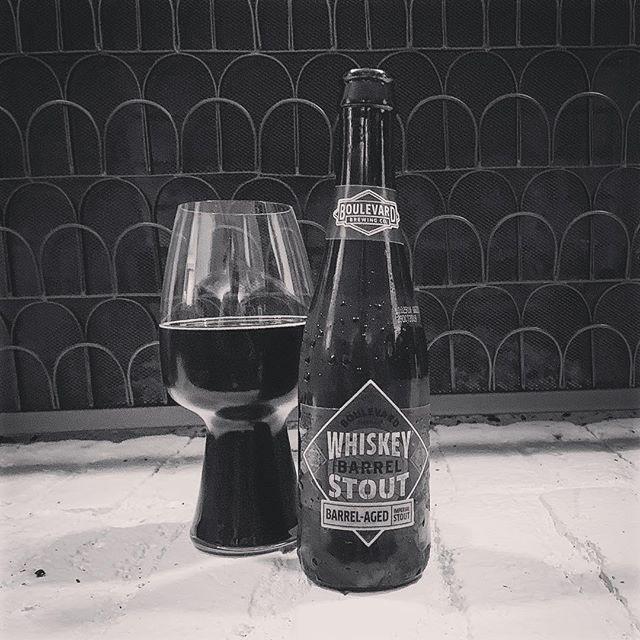 Barrely waiting, Soaking in whiskey and wood, Keeps my belly warm. #boulavardbrewing #whiskeybarrelstout #missouribeer #stout #barrelaged #craftbeer #totalwine #haiku