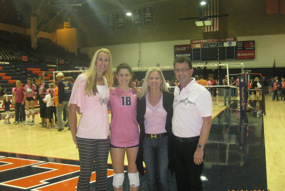 Coach Cristy Chapman-Uhrig back in Illinois to see her alma mater and former Laguna Beach VBC player Allison Palmer