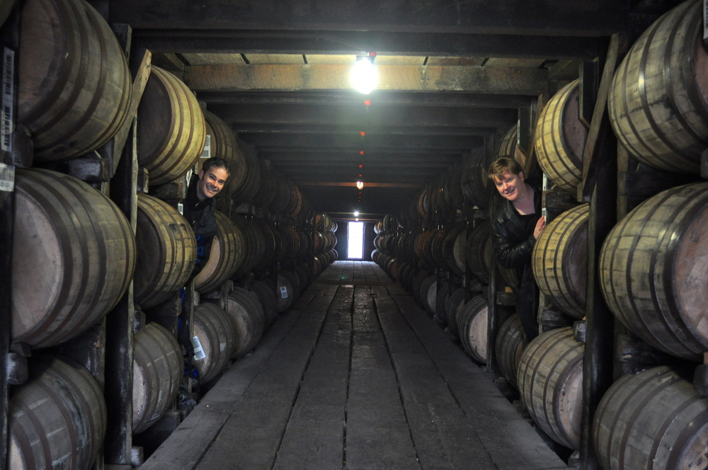 Our new office. Or, bourbon barrels at Buffalo Trace in KY.