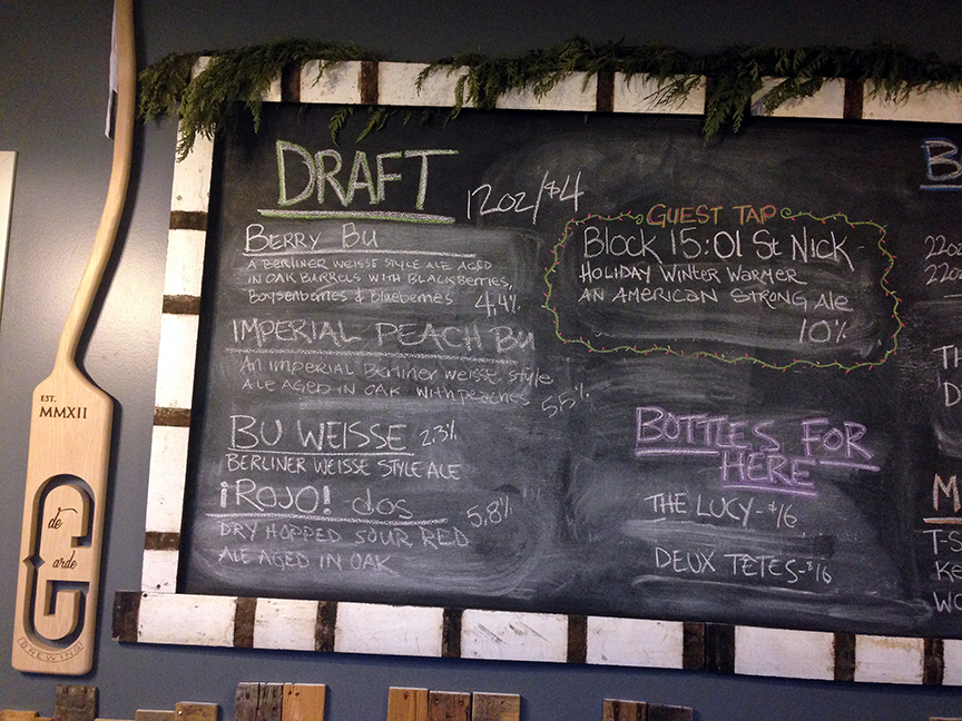 The menu board.