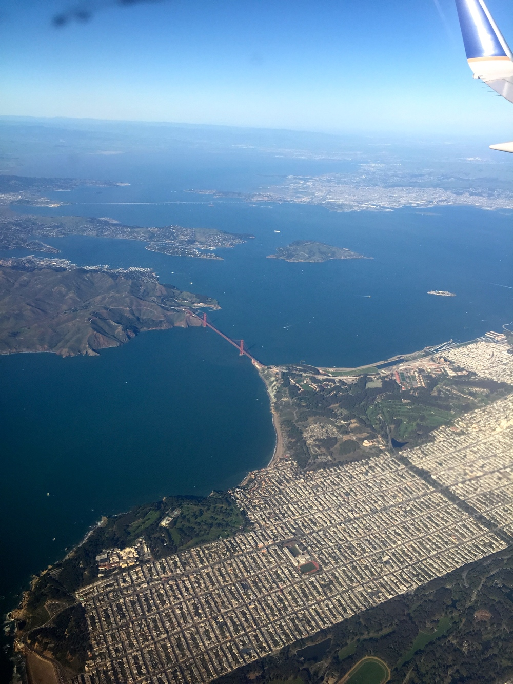 Yup; that's the Golden Gate, from about 4000 feet.