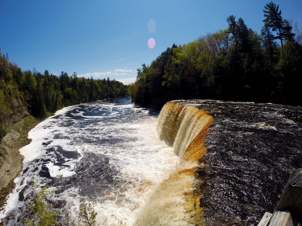 Tahquamenon Falls, near Paradise, MI. The Upper Peninsula, y'all. It's magical.