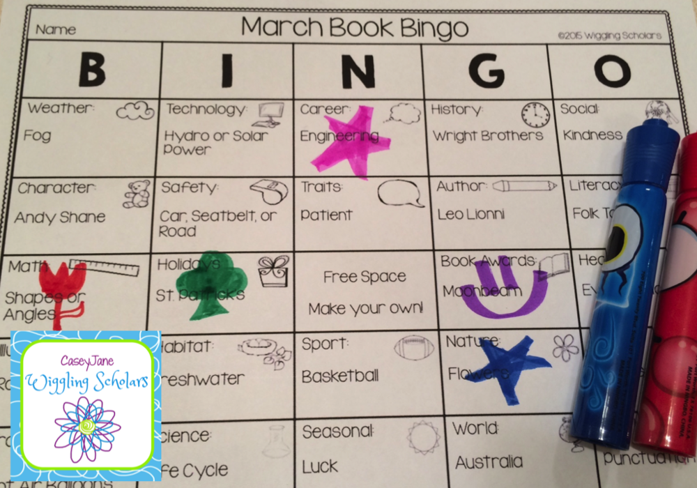 Book Bingo by Wiggling Scholars