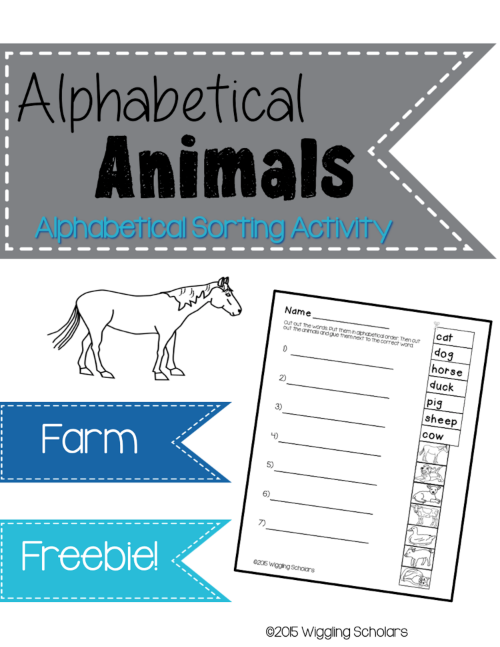 Animal Alphabetical Freebie Cover