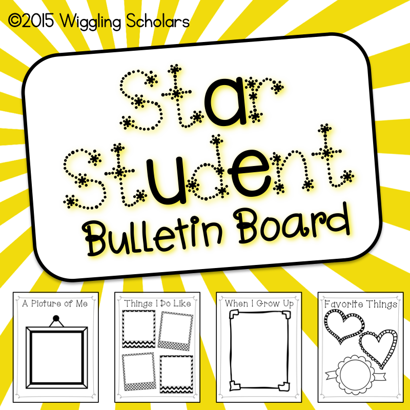 Star Student Bulletin Board by Wiggling Scholars