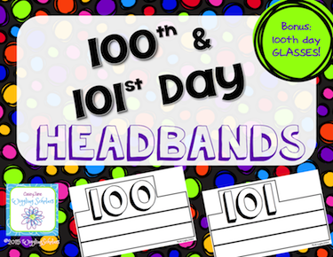 100th and 101st Day Headbands