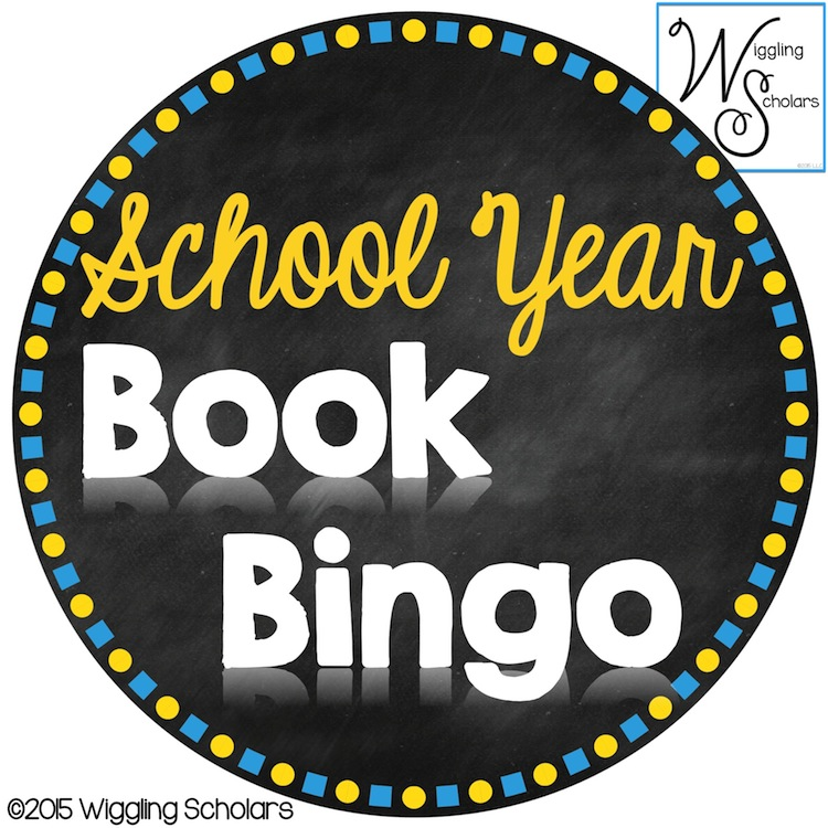 School Year Book Bingo by Wiggling Scholars