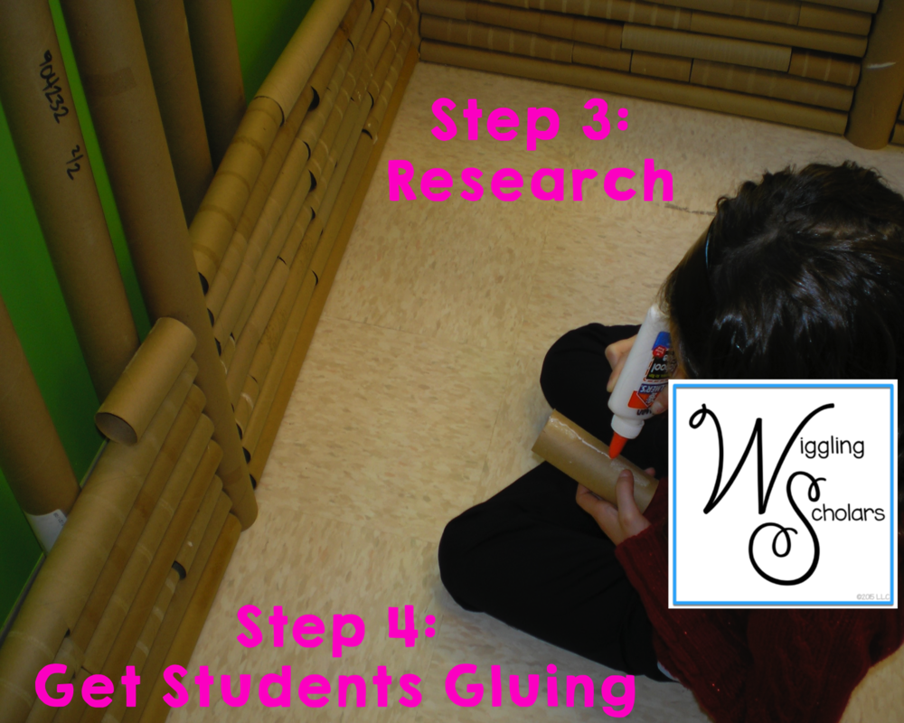 STEM Step 3: Research, Step 4: Get Students Gluing