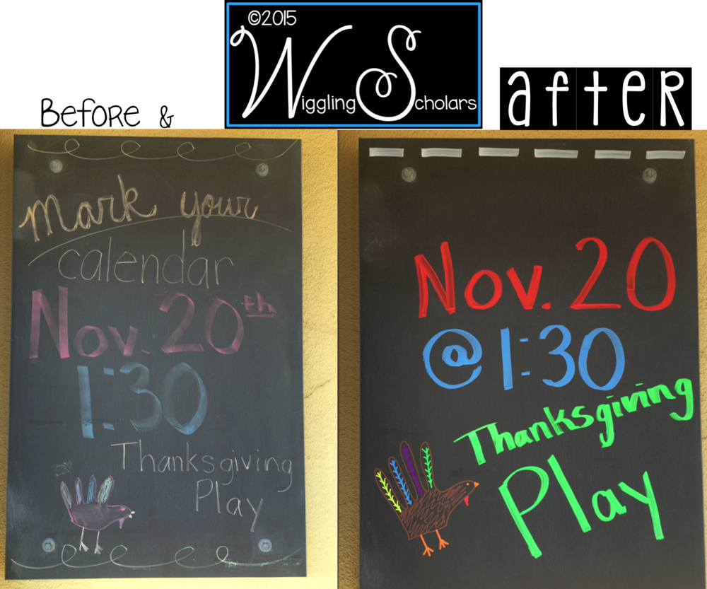 Before and After with Chalkboard Markers