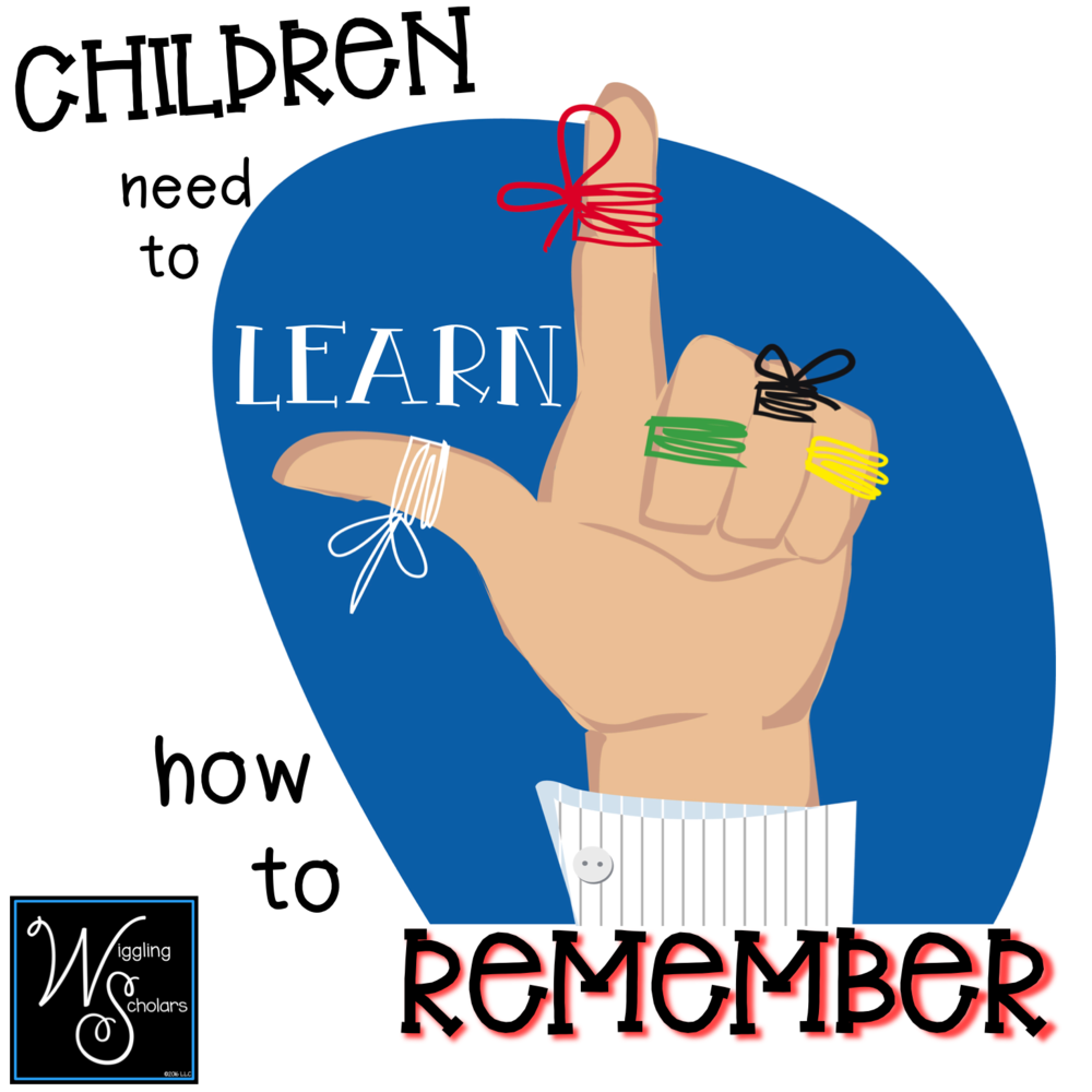Students need to learn how to remember by Wiggling Scholars