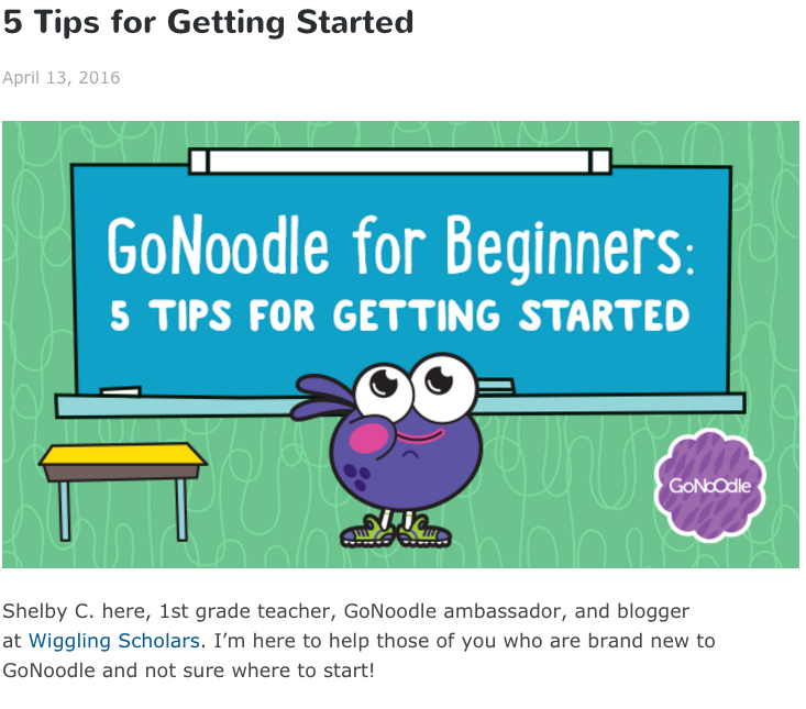 5 Tips for GoNoodle