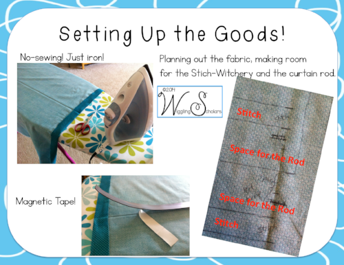 Non-sewing Set Up for Fabric Curtains by Wiggling Schoalrs