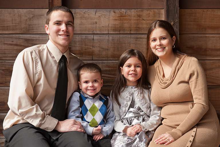 Family portraits in natural light